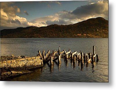 Broken Dock, Loch Sunart, Scotland Metal Print by John Short