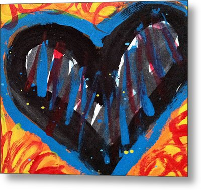 Broken Heart And Power Of Love Collide Metal Print by Bethany Stanko