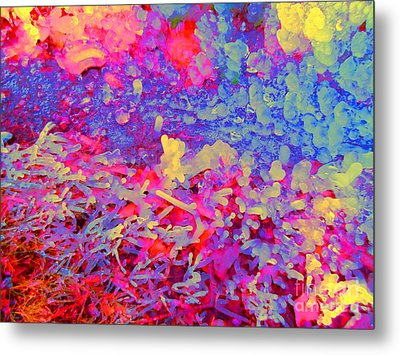 Metal Print featuring the photograph Broken Sprinkler Ice Sculpture by Ann Johndro-Collins