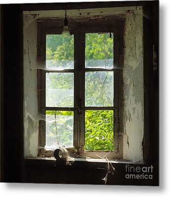 Broken Window. Metal Print by Bernard Jaubert