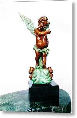 Bronze Angel Metal Print by Unique Consignment