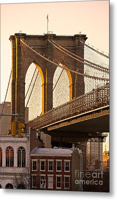 Metal Print featuring the photograph Brooklyn Bridge - New York by Luciano Mortula