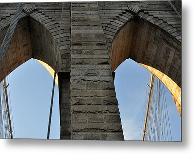 Metal Print featuring the photograph Brooklyn Bridge by Diane Lent