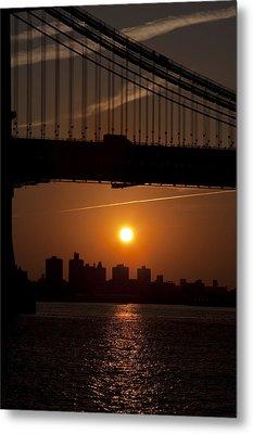 Brooklyn Bridge Sunrise Metal Print