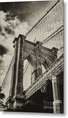 Metal Print featuring the photograph Brooklyn Bridge by Vicki DeVico