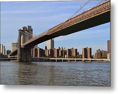Brooklyn Bridge1 Metal Print by Zawhaus Photography