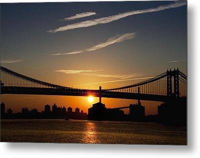 Brooklyn Sunrise Metal Print by Bill Cannon