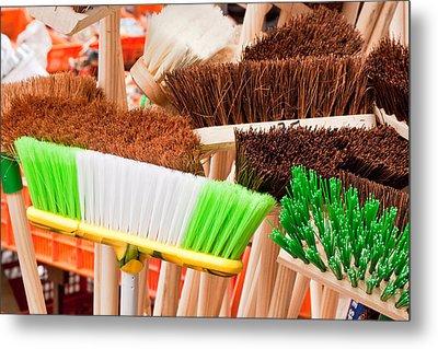 Brooms Metal Print by Tom Gowanlock