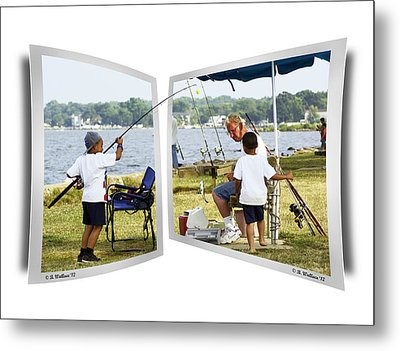 Brothers Fishing - Oof Metal Print by Brian Wallace