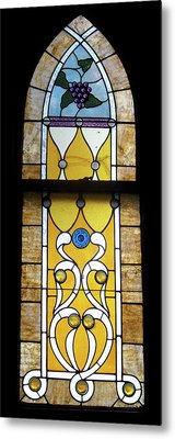 Brown Stained Glass Window Metal Print by Thomas Woolworth