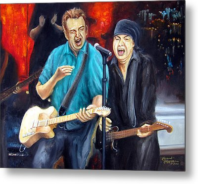 Bruce And Steven At The Apollo Metal Print by Leonardo Ruggieri