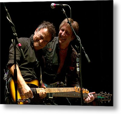 Bruce Springsteen And Danny Gochnour Metal Print by Jeff Ross