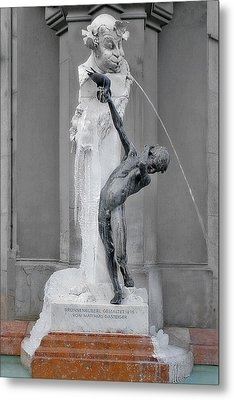 Brunnenbuberl - Boy At The Fountain -  Munich Germany Metal Print by Christine Till