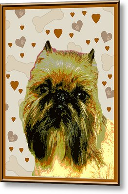 Brussels Griffen Metal Print by One Rude Dawg Orcutt