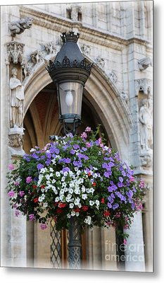 Brussels Lamp Post Metal Print