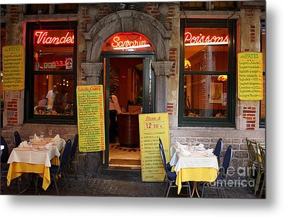 Brussels - Restaurant Savarin Metal Print