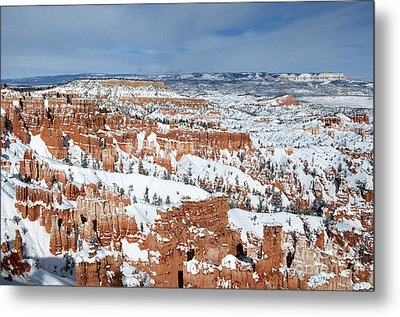 Metal Print featuring the photograph Bryce Winter by Bob and Nancy Kendrick
