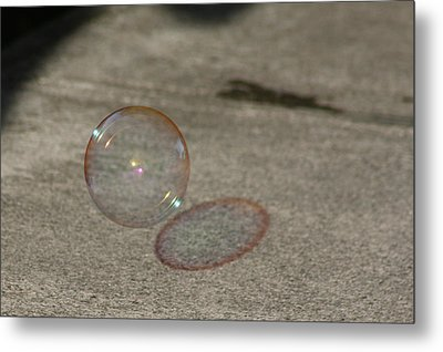 Bubble Shadow Metal Print
