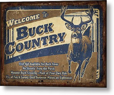 Buck Country Sign Metal Print
