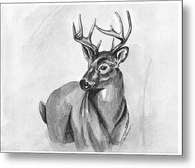 Metal Print featuring the painting Buck by Sarah Farren
