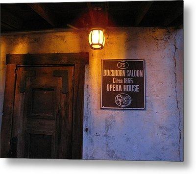 Buckhorn Saloon And Opera House Metal Print by FeVa  Fotos