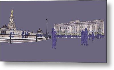 Buckingham Palace, Queen Vctoria Memorial, London Metal Print by Simon Carter