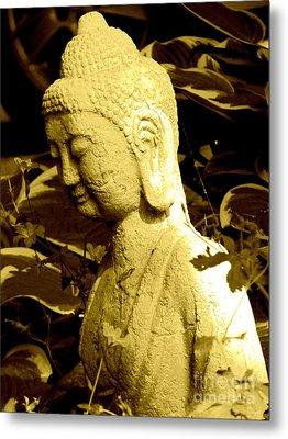 Metal Print featuring the photograph Buddha  by France Laliberte