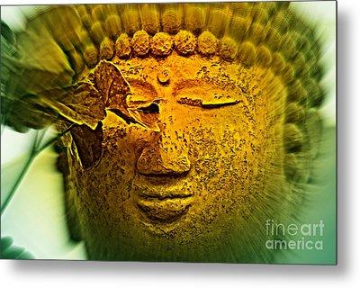 Buddha In Deep Meditation Metal Print by Susanne Van Hulst