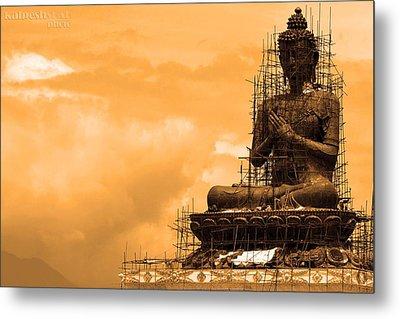 Buddha Metal Print by Kalpesh Shah