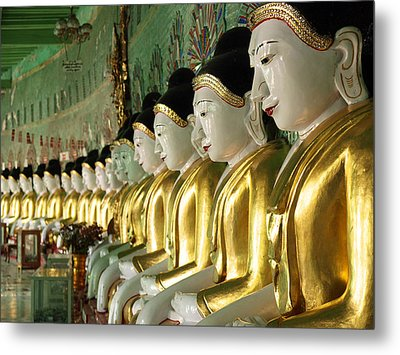 Buddha Row Metal Print by Nina Papiorek