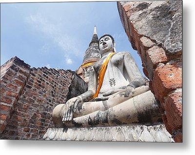 buddha statue in Thailand  Metal Print by Thanawat  Wongsuwannathorn
