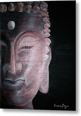 Metal Print featuring the painting Buddha by Teresa Beyer