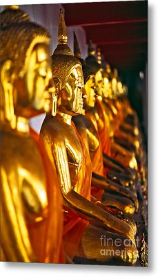 Metal Print featuring the photograph Buddhas by Luciano Mortula