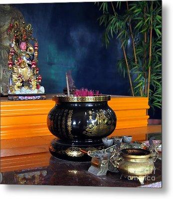 Buddhist Altar Metal Print