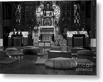 Buddhist Temple Woodstock Metal Print by Design Remix