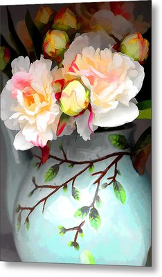 Buds In Vase Metal Print by Brian Davis