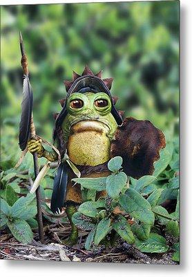 Bufo Warrior Goblin Metal Print by Bill Fleming