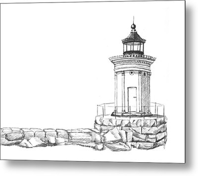 Bug Light Sketch Metal Print by Dominic White