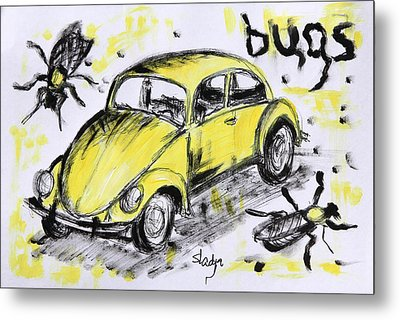 Bugs Metal Print by Sladjana Lazarevic