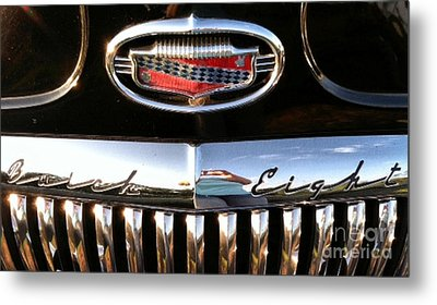 Metal Print featuring the photograph Buick 1952 Front Grill by Elizabeth Coats