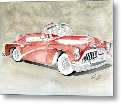 Metal Print featuring the painting Buick Skylark 1953 by Eva Ason