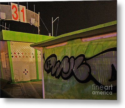 Metal Print featuring the photograph Building 31 Rimini Beach Graffiti by Andy Prendy