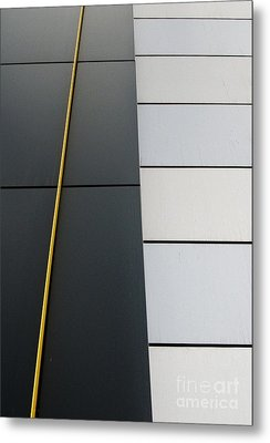 Building Photo Abstract Metal Print by Marsha Heiken