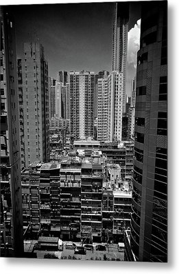 Buildings In Hong Kong Metal Print by All rights reserved to C. K. Chan