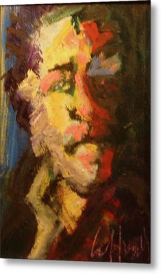 Metal Print featuring the painting Bukowski by Les Leffingwell