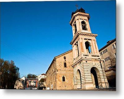 Bulgaria Bells Tower Metal Print by Johnny Sandaire