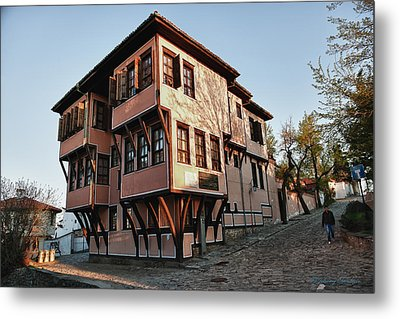 Bulgaria House On Hill Metal Print by Johnny Sandaire