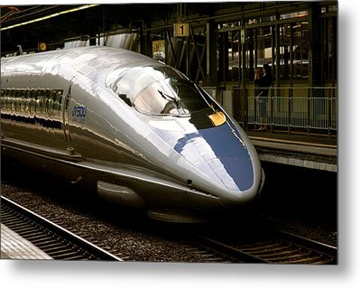 Bullet Train Metal Print by Jerry Patterson