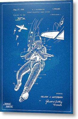 Bulletproof Patent Artwork 1968 Figure 14 Metal Print