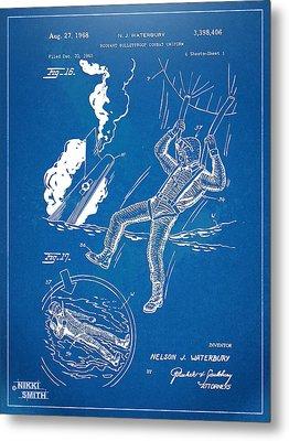 Bulletproof Patent Artwork 1968 Figures 16 To 17 Metal Print